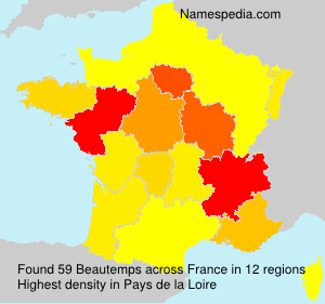 Surname Beautemps in France