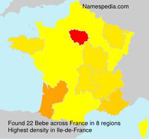 Familiennamen Bebe - France