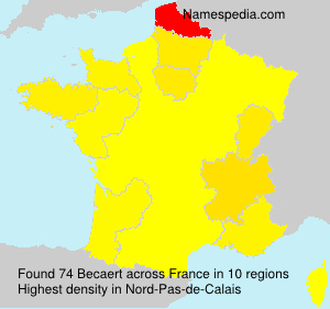 Surname Becaert in France