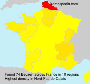 Familiennamen Becaert - France