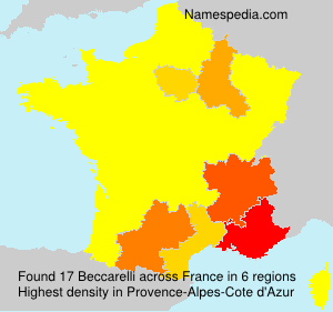 Surname Beccarelli in France