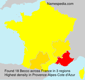 Surname Becco in France