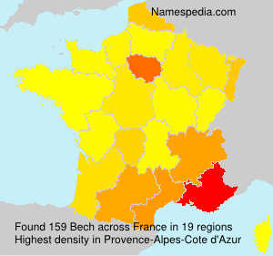 Surname Bech in France