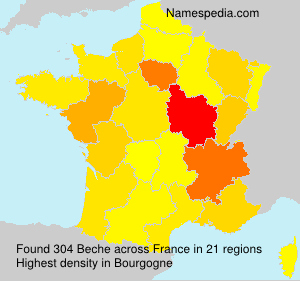 Surname Beche in France