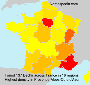 Surname Bechir in France