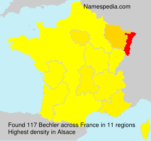 Surname Bechler in France