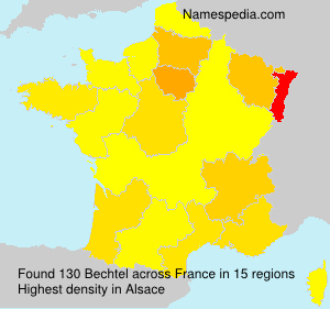 Surname Bechtel in France