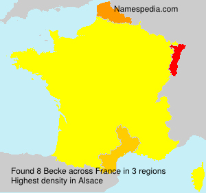 Surname Becke in France
