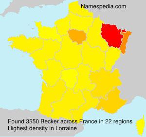 Familiennamen Becker - France