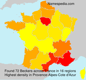 Surname Beckers in France