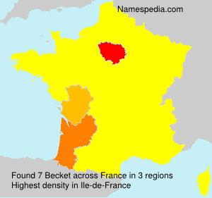 Surname Becket in France