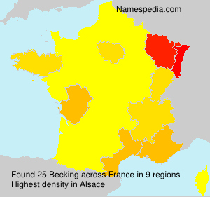 Familiennamen Becking - France