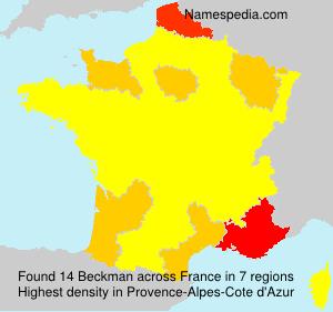 Surname Beckman in France