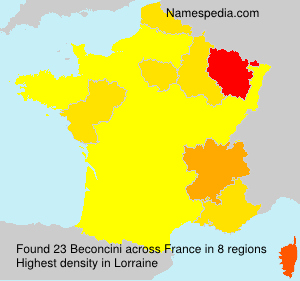 Surname Beconcini in France