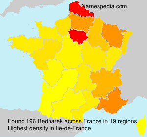 Surname Bednarek in France