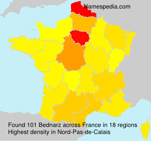 Surname Bednarz in France