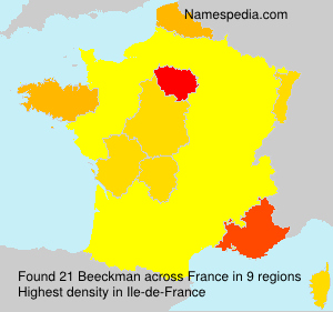 Surname Beeckman in France