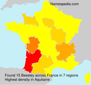 Surname Beesley in France