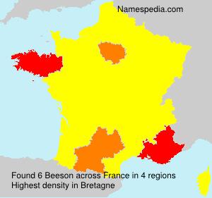 Familiennamen Beeson - France