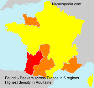 Surname Beevers in France
