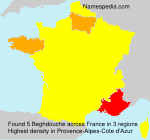Surname Beghdouche in France