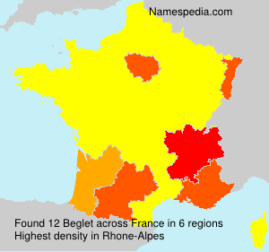Surname Beglet in France