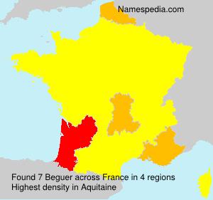 Surname Beguer in France