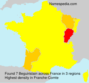Surname Beguiristain in France