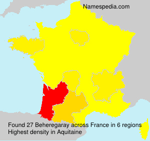 Surname Beheregaray in France