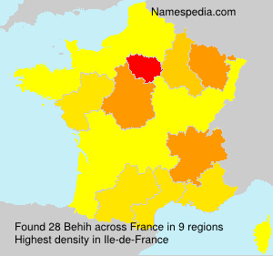 Surname Behih in France