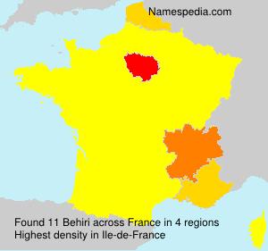 Familiennamen Behiri - France