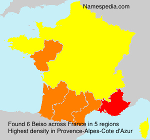 Familiennamen Beiso - France