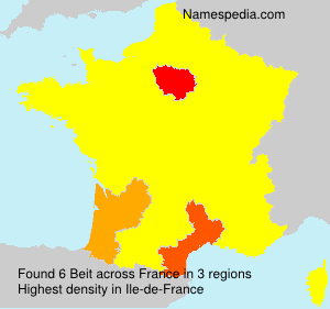 Surname Beit in France