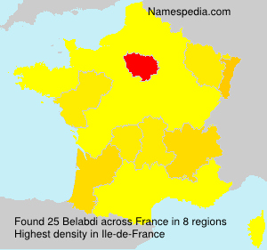 Familiennamen Belabdi - France