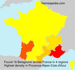 Surname Belagoune in France
