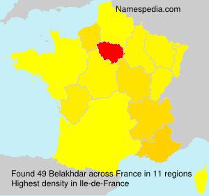 Surname Belakhdar in France