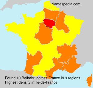 Surname Belbahri in France