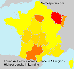 Surname Belcour in France