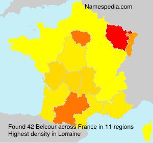 Familiennamen Belcour - France