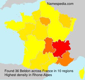 Surname Beldon in France