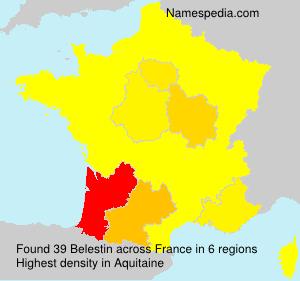 Familiennamen Belestin - France