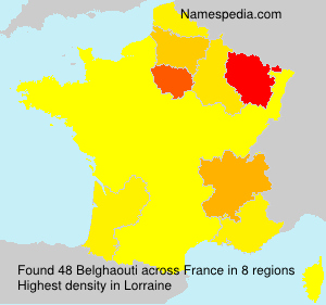 Surname Belghaouti in France