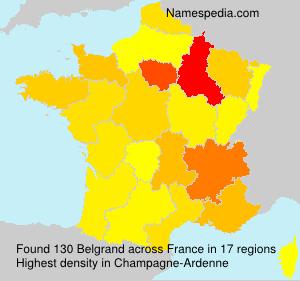 Surname Belgrand in France