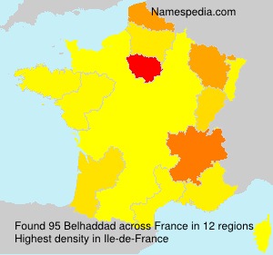 Surname Belhaddad in France