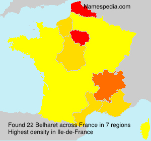 Surname Belharet in France