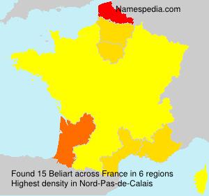 Familiennamen Beliart - France