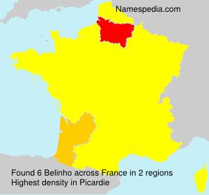 Familiennamen Belinho - France