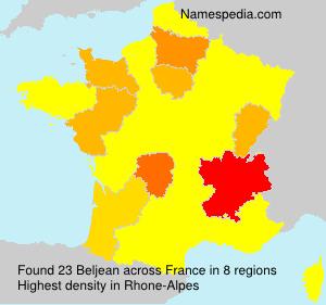 Surname Beljean in France