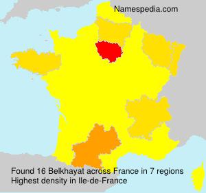 Surname Belkhayat in France