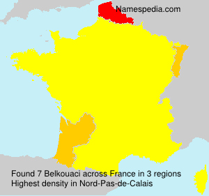 Surname Belkouaci in France